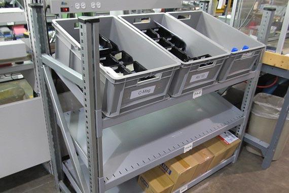 Industrial Shelving Bins
