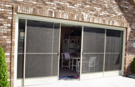 screened in garage doorRetractable Screens Shades and Awnings  Working Space
