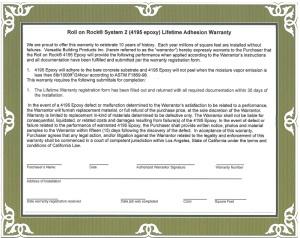 ROR Warranty Certificate