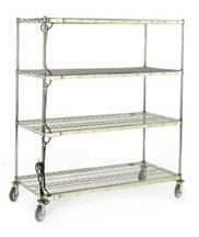 Burn In Carts come in a range of sizes and shelf configurations