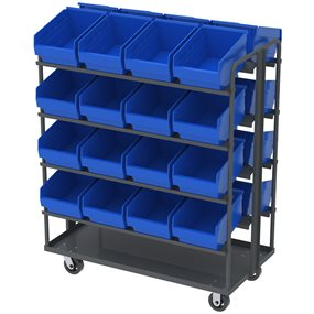 Akro-Mils Picking/Stock Cart with Inclined Shelves